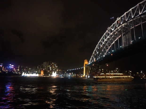 030213 Sydney at night The Harbour Bridge and Luna Park