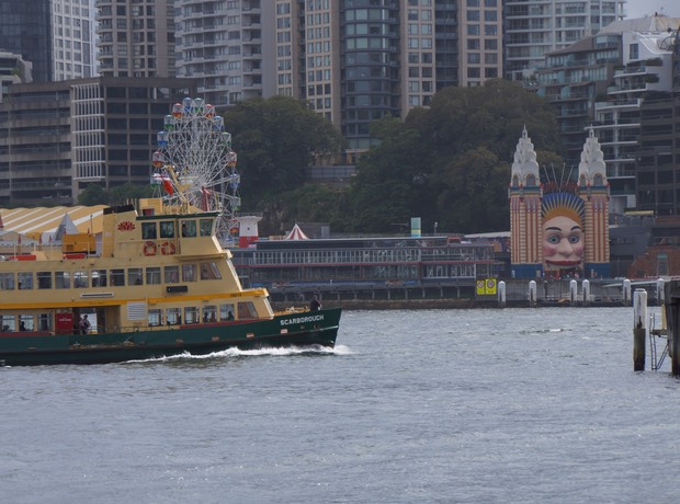 030313 An Iconic Image of Sydney Luna Park and a Ferry