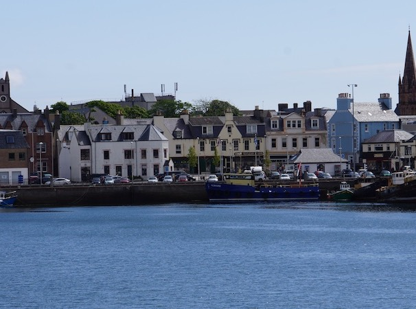 061713 Stornoway Home of Harris Tweed and a great restaurant called Digby Chick