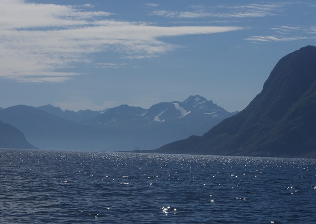 140610 Sailing into Allesund Norway Glaciers and snowcapped peaks