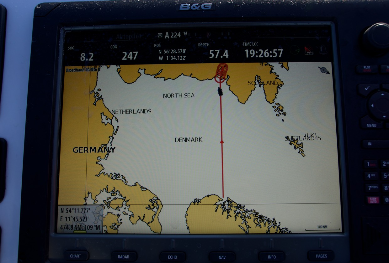 140823 North Sea crossing Almost arrived