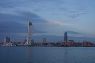 140918 7 Sunset over Portsmouth Spinnaker Tower