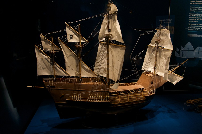140919 4 A model of the Mary Rose
