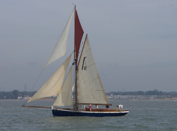 140928 Sailing Yarmouth to Hamble one of the many beautiful boats