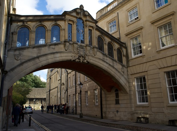 141020 Walking tour of Oxford Bridge of Sighs 1914