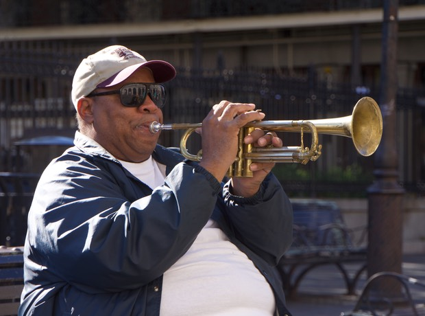 141107 Jackson Square New Orleans voice of Louis Armstrong