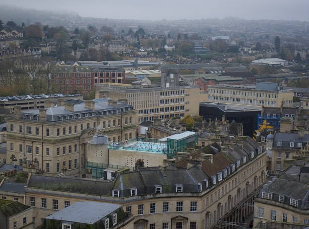 141115 View of Bath from the Tower of the Abbey