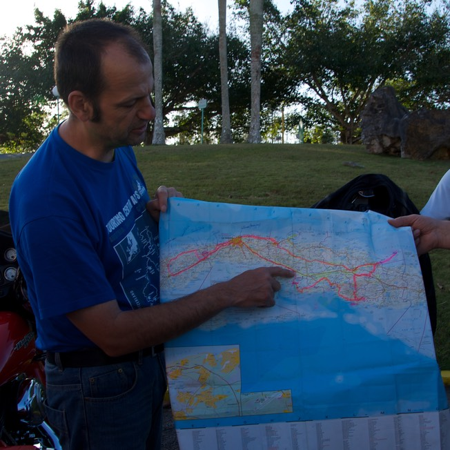150301 Briefing for ride from Vinales to Playa Larga