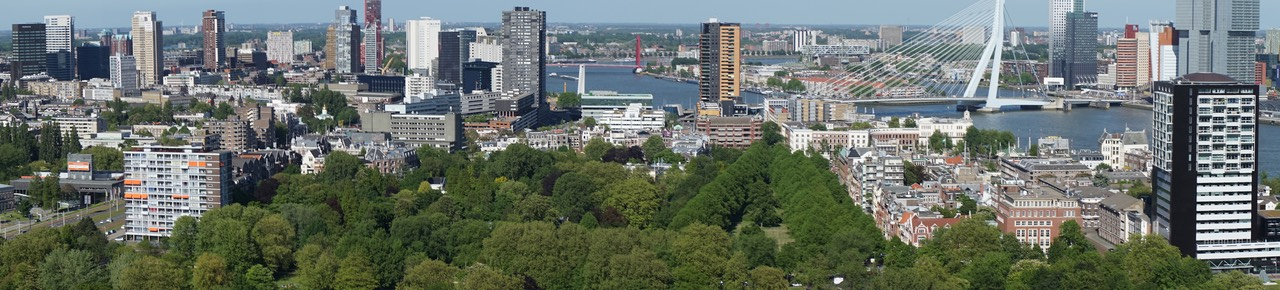 150524 11 Panorama View of Rotterdam from the Euromast