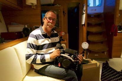 150725 2 Andrew and his camera gear happy birthday.jpg