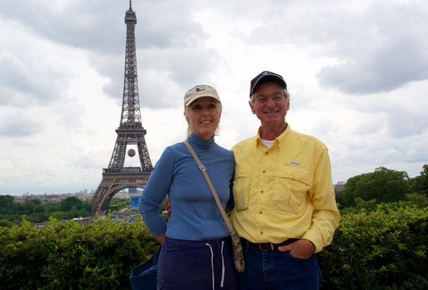 160611 Paris Eiffel Tower Jim and Cathy