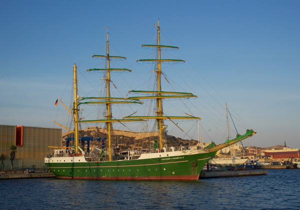 161010 Cartagena German Youth Training Vessel in Harbour