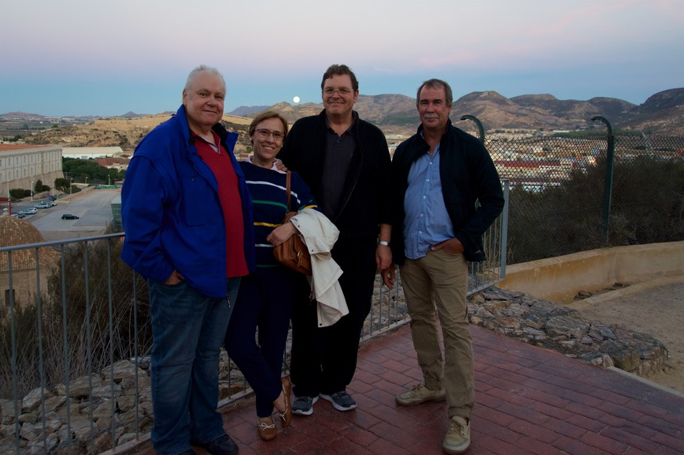 161015 3 Moon rise from Castillo De Concepcion Ian Charo Bruce and Andrew.jpg