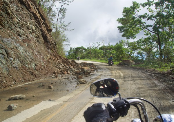 161130 Ride day from Guantanamo to Baracoa Cuba Mountainside Hurricane Damage