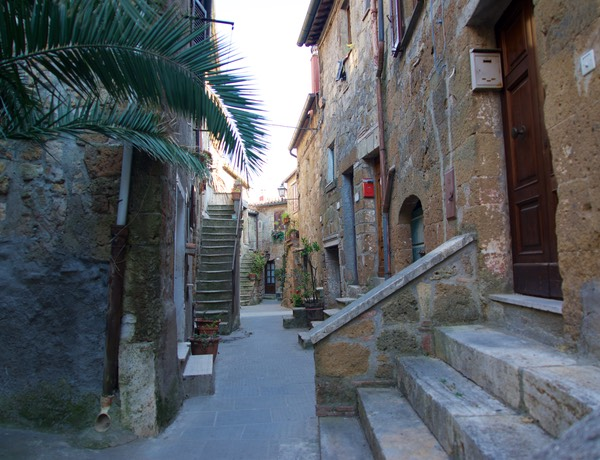 170622 Night 1 Pitigliano Medieval City street Leading to our accomodation