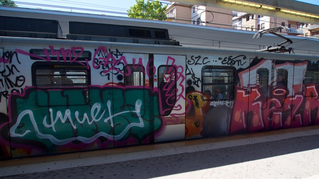 170707 1 Day trip to Rome - Graffiti and trains