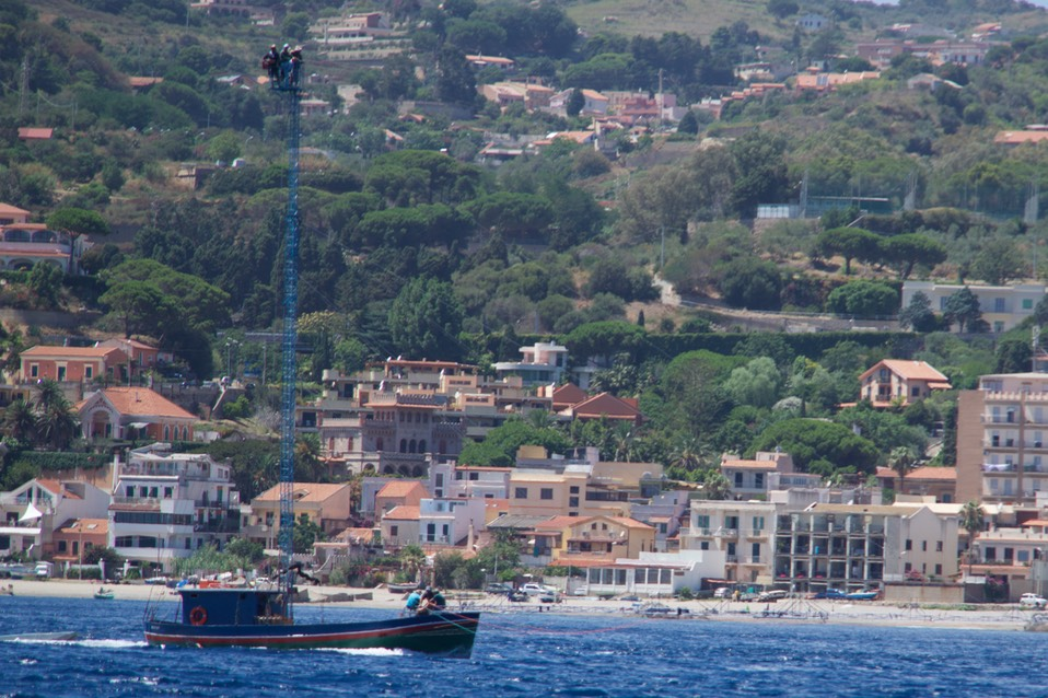 170725 8 Day 1 Swordfishing Spada boat in Strait of Messina