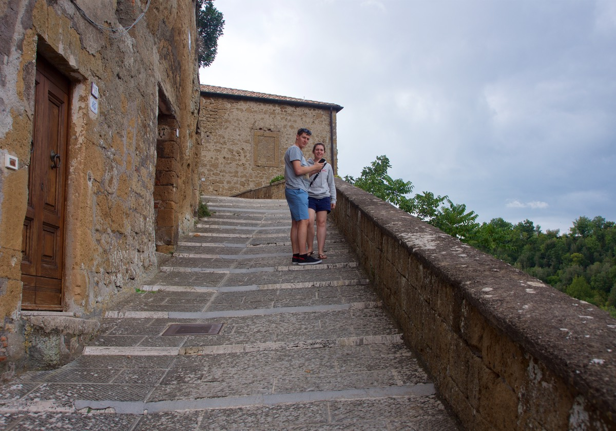 170911 Day 1 Road Trip Walking the streets of Sorano Ben and Renae