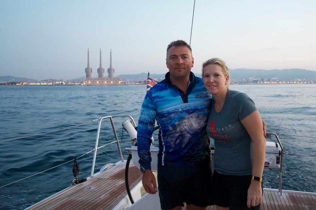 180729 2 Leaving Badalona for Soller Early morning start Adam and Kylie