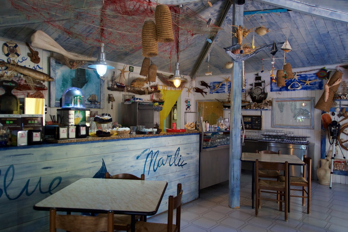 190722 8 Lunch at The Blue Marlin in Porto Pino