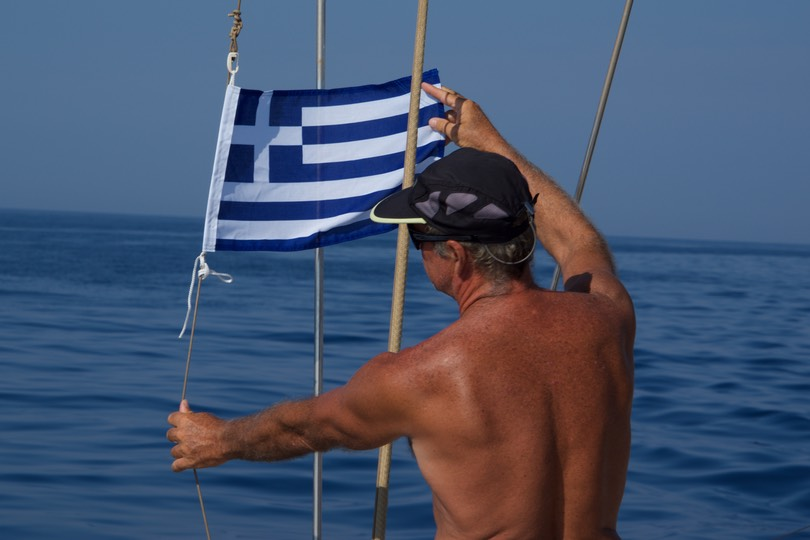 190814 4 A first flying the Greece Courtesy flag