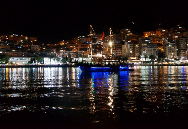 190821 19 Night life Sarande from the water