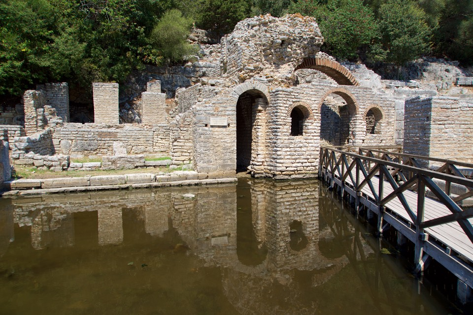 190821 6 Butrint National Park Chapel of the 4th Century bc dedicated to the god of Asclepius