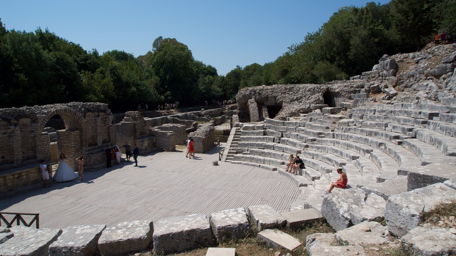 190821 7 Butrint National Park The ancient theatre of the 3rd century then arranged to the Roman style